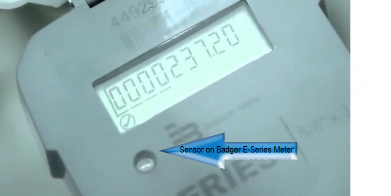 Sensor on Badger E-Series Meter